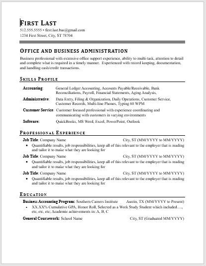 Resume.Business.Office.Adminstration